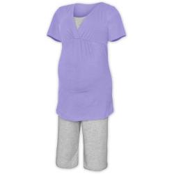 Pyžamo pro těhotné a kojící matky KR - Šeříková