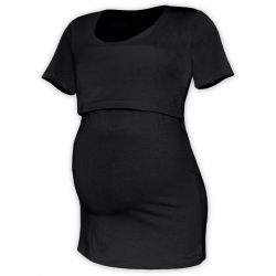 Tričko pro snadné kojení KATEŘINA, KR - Černá