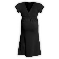Těhotenské šaty ŠARLOTA , KR - Černá