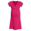 Těhotenské šaty ŠARLOTA , KR - Sytě růžová