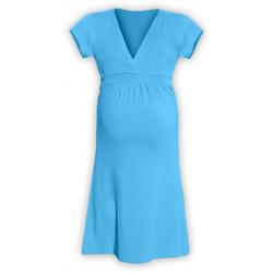 Těhotenské šaty ŠARLOTA , KR - Tyrkys