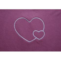 Těhotenský pás/top s výšivkou Srdce - Růžová