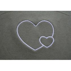 Těhotenský pás/top s výšivkou Srdce - Khaki