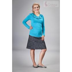 Elegantní těhotenská sukně DENIM - černá (melírkovaná)