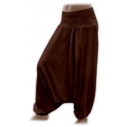 Turecké těhotenské kalhoty JOŽÁNEK - Čoko hnědá