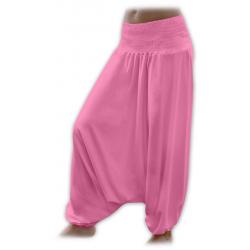 Turecké těhotenské kalhoty JOŽÁNEK - Růžová