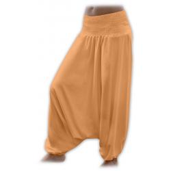Turecké těhotenské kalhoty JOŽÁNEK - Světle oranžová