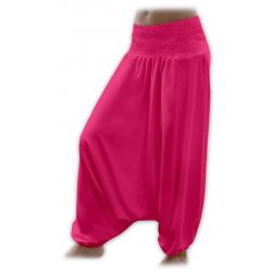 Turecké těhotenské kalhoty JOŽÁNEK - Sytě růžová