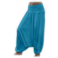 Turecké těhotenské kalhoty JOŽÁNEK - Tmavý tyrkys