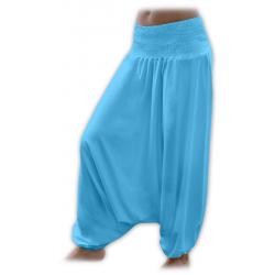 Turecké těhotenské kalhoty JOŽÁNEK - Tyrkys