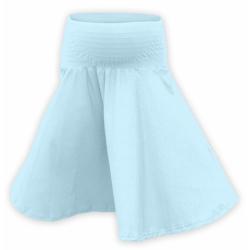 Těhotenská kolová sukně SÁRA- Světle modrá