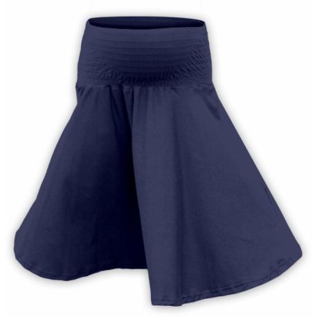 Těhotenská kolová sukně SÁRA - Tmavě modrá