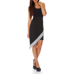 Asymetrická sukně - černá/šedá