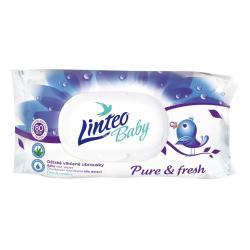 Dětské vlhčené ubrousky Pure and Fresh Linteo Baby, 80ks