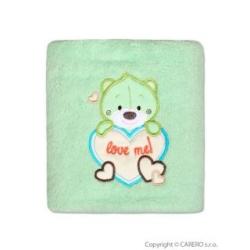 Dětská chlupatá deka Bobas Fashion Medvěd - zelená