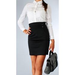 Sukně s vysokým pasem - černá