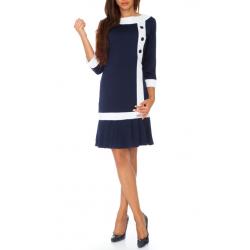 Volánkové šaty s knoflíky - granát