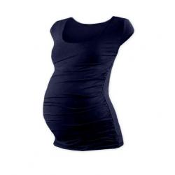 Těhotenské tričko JOHANKA, mini rukáv – Tmavě modrá