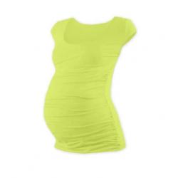 Těhotenské tričko JOHANKA, mini rukáv – Světle zelená