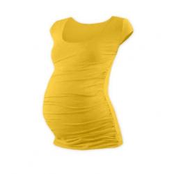 Těhotenské tričko JOHANKA, mini rukáv – Žlutooranžová