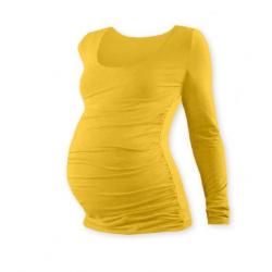 Těhotenské tričko JOHANKA, dlouhý rukáv - Žlutooranžová