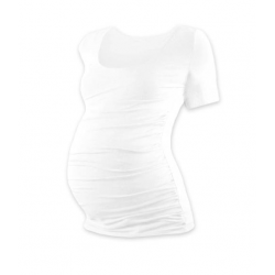Těhotenské tričko JOHANKA, krátký rukáv - Bílá