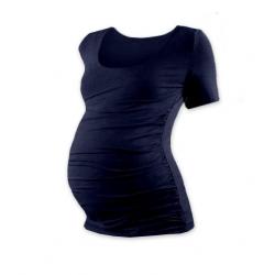 Těhotenské tričko JOHANKA, krátký rukáv - Tmavě modrá
