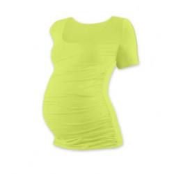 Těhotenské tričko JOHANKA, krátký rukáv - Světle zelená