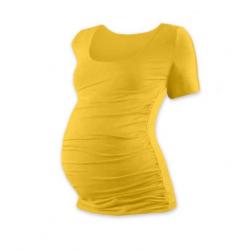 Těhotenské tričko JOHANKA, krátký rukáv - Žlutooranžová