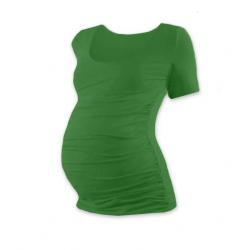 Těhotenské tričko JOHANKA, krátký rukáv - Tmavě zelená