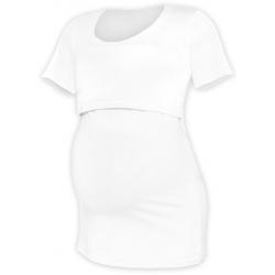 Tričko pro snadné kojení KATEŘINA, KR - Bílá