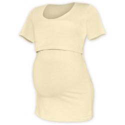 Tričko pro snadné kojení KATEŘINA, KR - Caffé Latté