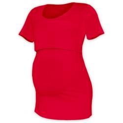 Tričko pro snadné kojení KATEŘINA, KR - Červená