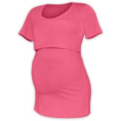 Tričko pro snadné kojení KATEŘINA, KR - Lososově růžová