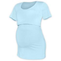 Tričko pro snadné kojení KATEŘINA, KR - Světle modrá