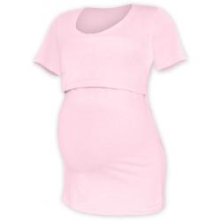 Tričko pro snadné kojení KATEŘINA, KR - Světle růžová
