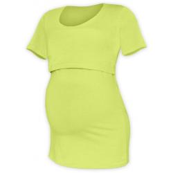 Tričko pro snadné kojení KATEŘINA, KR - Světle zelená