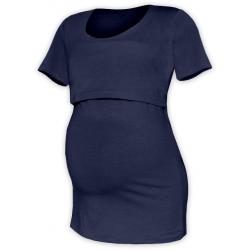 Tričko pro snadné kojení KATEŘINA, KR - Tmavě modrá