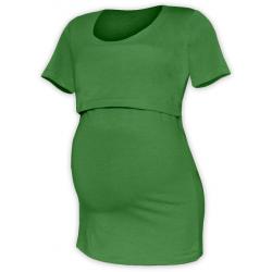 Tričko pro snadné kojení KATEŘINA, KR - Tmavě zelená