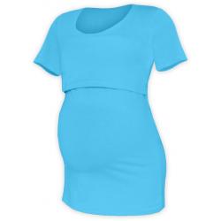Tričko pro snadné kojení KATEŘINA, KR - Tyrkys