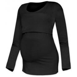 Tričko pro snadné kojení KATEŘINA, DR - Černá